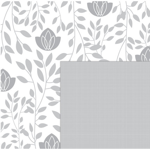 Quick Quotes - Paint it Black Collection - 12 x 12 Double Sided Paper - Spring Branches, CLEARANCE