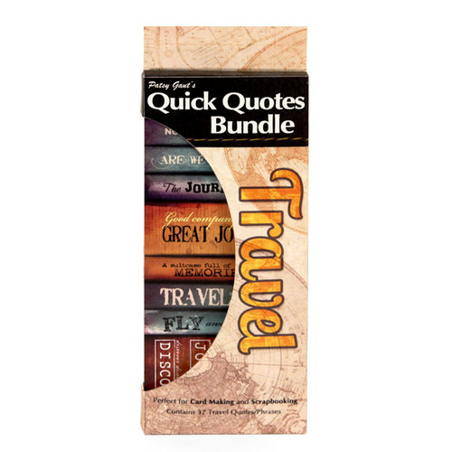 Quick Quotes - Bundle of Quotes and Phrases - Cardstock and Vellum Quote Strips - Travel