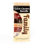 Quick Quotes - Bundle of Quotes and Phrases - Cardstock and Vellum Quote Strips - Family
