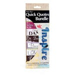 Quick Quotes - Bundle of Quotes and Phrases - Cardstock and Vellum Quote Strips - Inspire