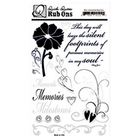 Quick Quotes - Paint it Black Collection - Rub Ons, CLEARANCE