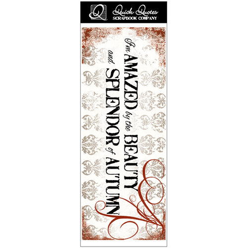 Quick Quotes - Fall Collection - Vellum Quote Strip - I'm Amazed