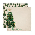 Reminisce - A Christmas Story Collection - 12 x 12 Double Sided Paper - Merry Christmas