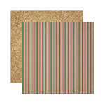 Reminisce - A Christmas Story Collection - 12 x 12 Double Sided Paper - Christmas Stripe