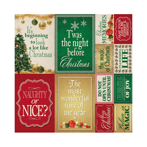 Reminisce - A Christmas Story Collection - 12 x 12 Cardstock Stickers - Poster