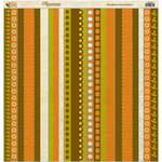 Reminisce - Autumn Forest Collection - 12 x 12 Die Cut Cardstock Stickers - Autumn Forest Ribbon, CLEARANCE