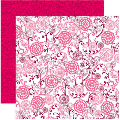 Reminisce - Anything For Love Collection - 12 x 12 Double Sided Paper - Love Grows