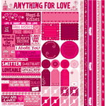 Reminisce - Anything For Love Collection - 12 x 12 Cardstock Stickers - Multi