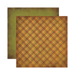 Reminisce - Autumn Harvest Collection - 12 x 12 Double Sided Paper - Autumn Plaid