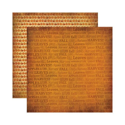 Reminisce - Autumn Harvest Collection - 12 x 12 Double Sided Paper - Autumn Harvest