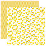 Reminisce - Barnyard Buddies Collection - 12 x 12 Double Sided Paper - Lil' Chicks