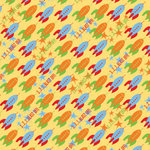 Reminisce - Boys Gone Wild Collection - Patterned Paper - 3 2 1 Blastoff, CLEARANCE