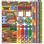 Reminisce - Block Party Collection - 12 x 12 Cardstock Stickers - Multi
