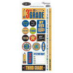 Reminisce - Back to School Collection - Sticker - Third Grade
