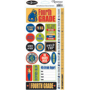 Reminisce - Back to School Collection - Sticker - Fourth Grade
