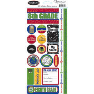 Reminisce - Back to School Collection - Sticker - Eight Grade