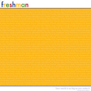 Reminisce - Back to School Collection - Patterned Paper - Freshman