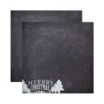 Reminisce - Chalkboard Christmas Collection - 12 x 12 Double Sided Paper - Chalkboard Christmas