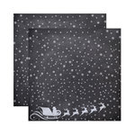 Reminisce - Chalkboard Christmas Collection - 12 x 12 Double Sided Paper - Chalkboard Santa