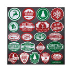 Reminisce - Chalkboard Christmas Collection - 12 x 12 Cardstock Stickers - Label