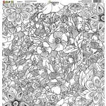 Reminisce - Color It Collection - 12 x 12 Single Sided Paper - Number 6