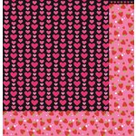 Reminisce - Cute Kitty Collection - 12 x 12 Double Sided Paper - Hearts