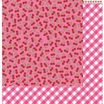 Reminisce - Cute Kitty Collection - 12 x 12 Double Sided Paper - Cherries