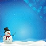 Reminisce - Christmas Town Collection - 12 x 12 Double Sided Paper - Do You Wanna Build a Snowman