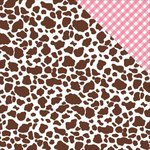 Reminisce - Cowgirl Collection - 12 x 12 Double Sided Paper - Brown Cowprint
