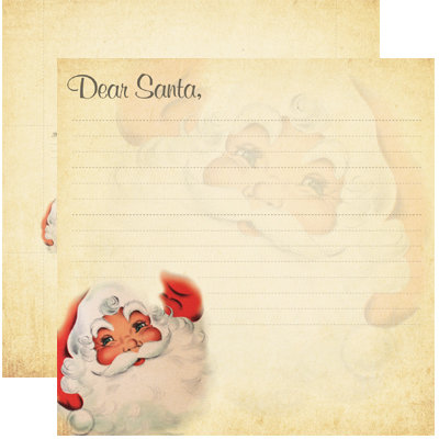 Reminisce - Dear Santa Collection - Christmas - 12 x 12 Double Sided Paper - Dear Santa