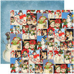 Reminisce - Dear Santa Collection - Christmas - 12 x 12 Double Sided Paper - Snowman Collage