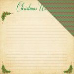 Reminisce - Dear Santa Collection - Christmas - 12 x 12 Double Sided Paper - Wishlist