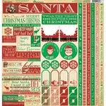 Reminisce - Dear Santa Collection - Christmas - 12 x 12 Cardstock Stickers - Multi