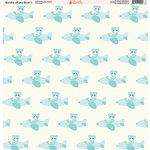 Ella and Viv Paper Company - Bundle of Joy Blue Collection - 12 x 12 Paper - One