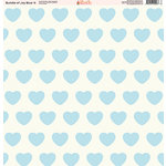 Ella and Viv Paper Company - Bundle of Joy Blue Collection - 12 x 12 Paper - Four