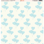 Ella and Viv Paper Company - Bundle of Joy Blue Collection - 12 x 12 Paper - Six