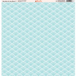 Ella and Viv Paper Company - Bundle of Joy Blue Collection - 12 x 12 Paper - Seven