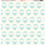 Ella and Viv Paper Company - Bundle of Joy Blue Collection - 12 x 12 Paper - Eight