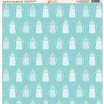 Ella and Viv Paper Company - Bundle of Joy Blue Collection - 12 x 12 Paper - Ten