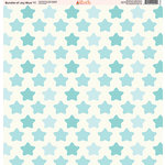 Ella and Viv Paper Company - Bundle of Joy Blue Collection - 12 x 12 Paper - Eleven