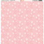 Ella and Viv Paper Company - Bundle of Joy Pink Collection - 12 x 12 Paper - One