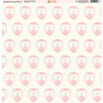 Ella and Viv Paper Company - Bundle of Joy Pink Collection - 12 x 12 Paper - Three