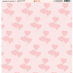 Ella and Viv Paper Company - Bundle of Joy Pink Collection - 12 x 12 Paper - Seven