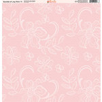 Ella and Viv Paper Company - Bundle of Joy Pink Collection - 12 x 12 Paper - Eleven