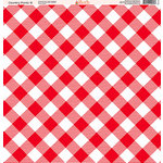 Ella and Viv Paper Company - Country Picnic Collection - 12 x 12 Paper - Six