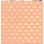 Ella and Viv Paper Company - Elegant Coral Collection - 12 x 12 Paper - One