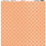 Ella and Viv Paper Company - Elegant Coral Collection - 12 x 12 Paper - Two