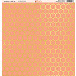 Ella and Viv Paper Company - Elegant Coral Collection - 12 x 12 Paper - Six