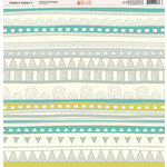 Ella and Viv Paper Company - Modern Safari Collection - 12 x 12 Paper - Seven