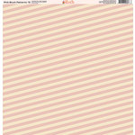 Ella and Viv Paper Company - Pink Blush Patterns Collection - 12 x 12 Paper - Fifteen